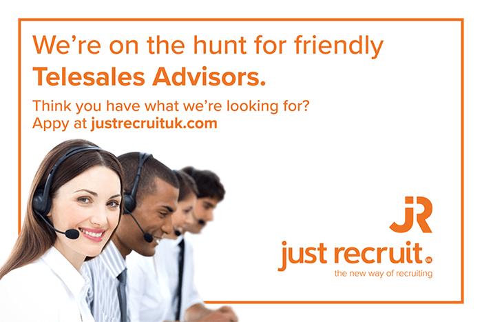 just recruit telesales advisors